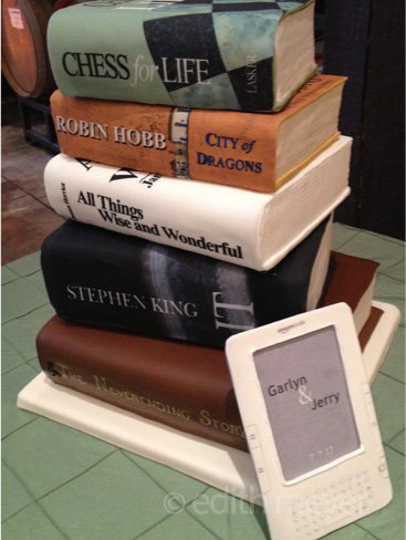Cakes shaped like books