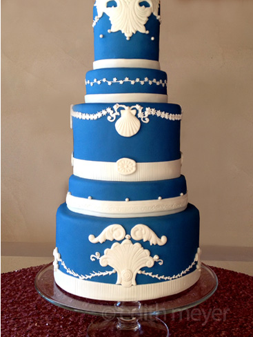 Wedgwood wedding cake cake
