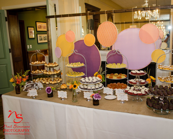Edith Meyer wedding buffet